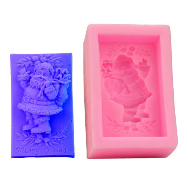 Santa Claus Silicone Cake Fondant Chocolate Baking Mold Soap Wax Resin Mould DIY