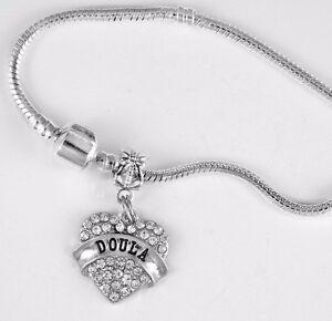 Doula Bracelet Midwife Gift Present Austrian Crystal Heart