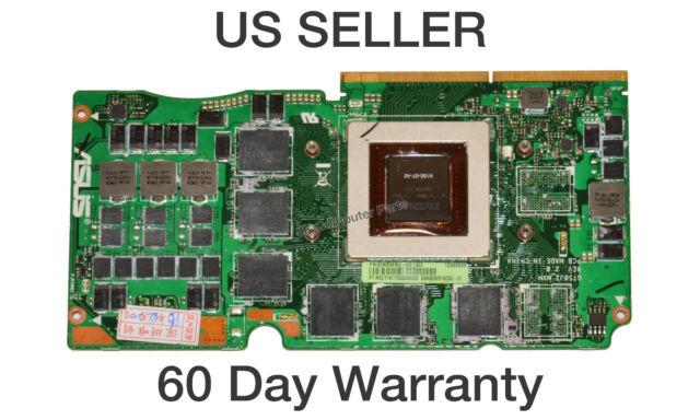 Asus G750JS G750JZ GeForce GTX 870M//3GB Video Card 60NB04M0-VG1020