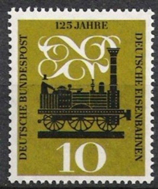 BUND Nr.345 ** 125 Jahre Eisenbahn 1960, postfrisch