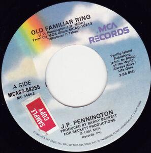 """J.P. Pennington - Old Familiar Ring  7"""" 45"""