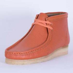 telegrama Endurecer Acrobacia  Clarks Originals Men * Wallabee Boot Orange Chicago Horween * UK  6,7,8,9,10,12 G | eBay