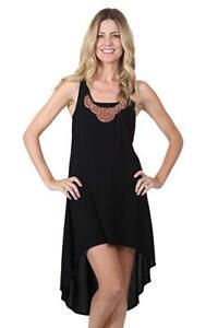 Dotti Swim Cover Up Dress Sz Large Hi Low Beaded Tank Maxi Dress