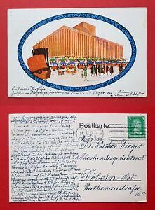 Kuenstler-AK-LEIPZIG-1927-Achilleion-Gaststaette-auf-dem-Ausstellungsgel-22839