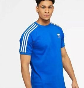 adidas-Originals-Retro-Tee-3-Stripe-Trefoil-70s-T-Shirt-Blue-BNWT-free-RM24-deli