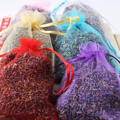 1/5/10 Real Lavender Organic Dried Flower Sachets Bud Bloom Bag Scent Fragrance