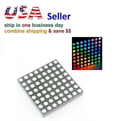 8x8 Matrix RGB LED Common Anode Full Colour LED 60*60mm Colorduino Compatible