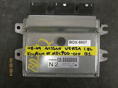 08 09 Nissan Versa 1.8l Ecu/ecm #mec900-010 B1 * See Articolo Descrizione*