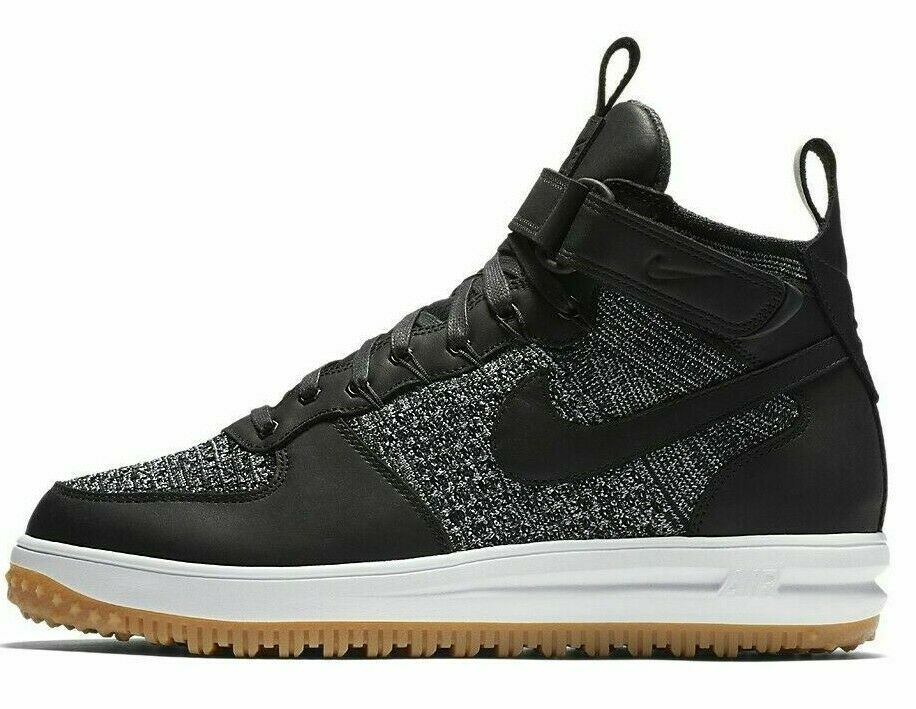 NIKE LUNAR FORCE 1 FLYKNIT WORKBOOT  OREO  SIZE 12 NEW W BOX (855984-001)