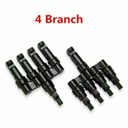 1 Pair Branch Y Solar Panel Cable Connectors MMF /& FFM Wire Splitter