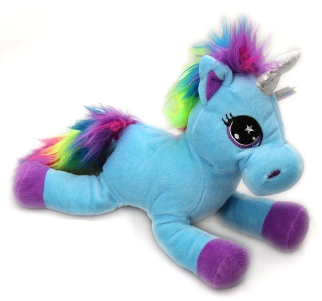 ty8296 Pony Magic Sparkley Snuggle Art Drawings Rainbow Mane Plush 35cm Unicorn Soft Toy