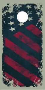 Seattle Washington Grunge Flag Cornhole Wrap Bag Toss Decal Baggo Skin Sticker Wraps