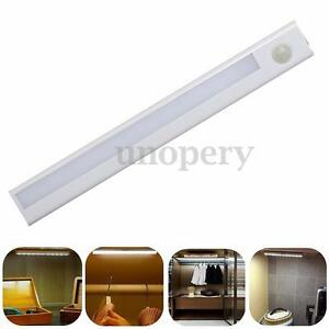 Indoor Wall Light With Pir Sensor : 8 LED PIR Motion Sensor Detector Night Light Indoor Drawer Closet Wall Lamp eBay