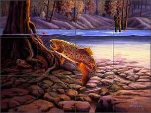 Ceramic-Tile-Mural-Backsplash-Kendrick-Lodge-Art-River-Trout-Fishing-POV-LKA010