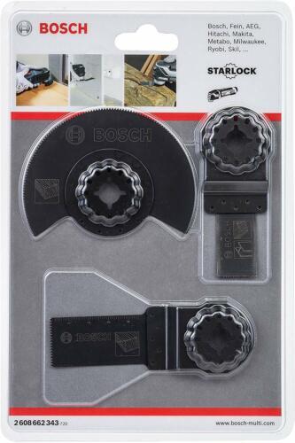 Bosch Bois Lame Starlock Lame Set Pour Multi-Outils 3 Pièces 2608662343