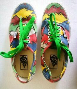 Details zu VANS Schuhe Skaterschuhe Sneakers *EU 38 *Rot Blau Gelb Grün *80er Jahre Vintage