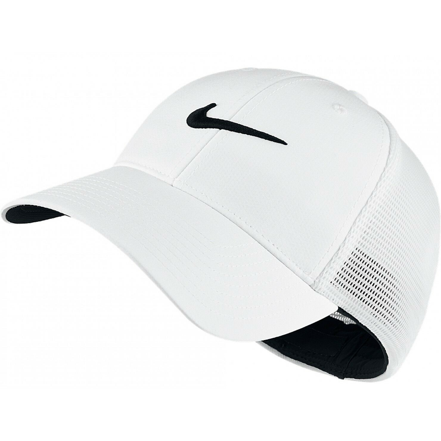 NEW  White [S M] NIKE Adult Unisex MESH-FLEXFIT Cap Small Medium