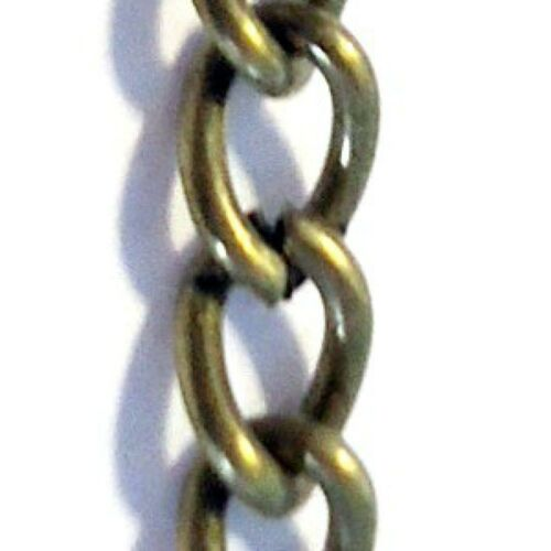 3 x Meters of Bronze Plated Cable Chain 300cm 6x4mmx1mm A5480 k2-accessories