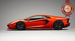 New Lamborghini Aventador Side View Hyper Sports Super Car Print
