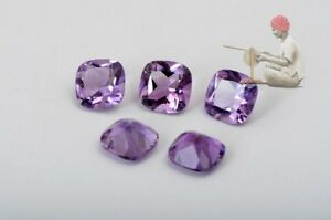 Natural-Amethyst-6mm-Cushion-Faceted-Cut-10-Pieces-Purple-Color-Loose-Gemstone-A
