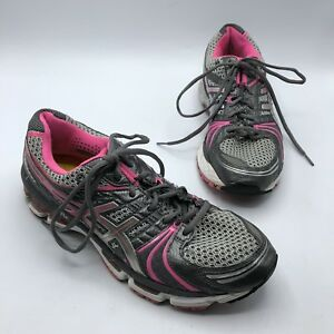 Details about Asics Gel Kayano 18 T250N Women Pink Gray Running Shoe Size  10 EUR 42 No Insoles