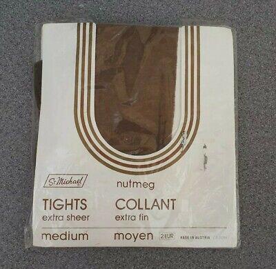 Devoto New Vintage Marks & Spencer Taglia M Noce Moscata Extra Sheer Nylon Collant 20 Denari-mostra Il Titolo Originale