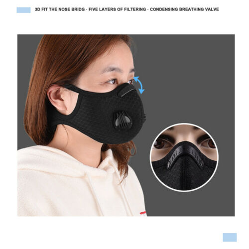 Useful Face Shield Activate Carbon Filter Anti Dust Mouth Cover+1×Replace Filter