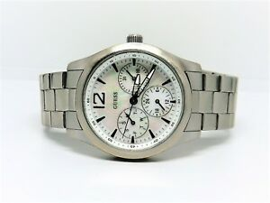 GUESS-Mother-of-Pearl-Dial-Date-Day-Hour-small-dials-Watch-WR100m-New-Battery