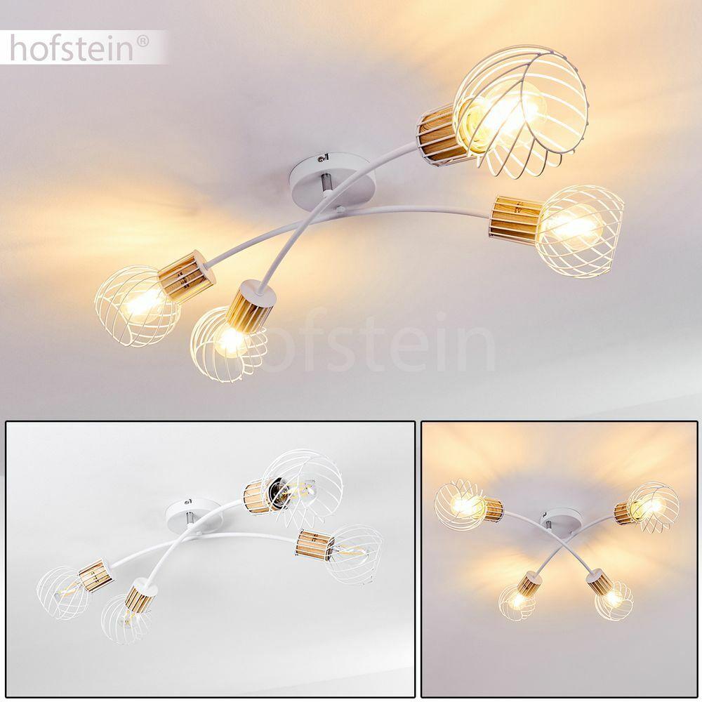 4-flammig Decken Lampe Flur Dielen Strahler weiße Wohn Schlaf Zimmer Beleuchtung