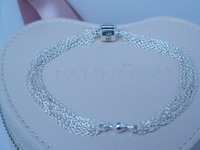 New W Hinged Box Pandora Multi Strand One Clip Station Chain Bracelet 591701