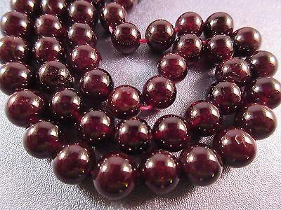 10pcs x 10mm Garnet Round Beads