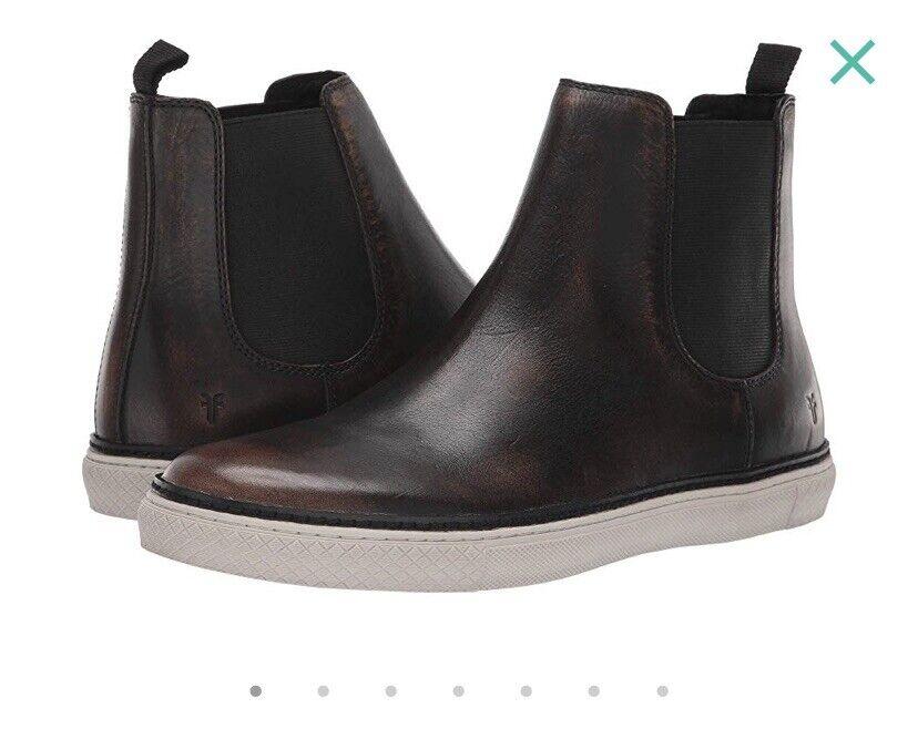 Frye Essex Chelsea Hommes Noir Cuir   Décontractée À Enfiler Bottes Chaussures 7.5 m