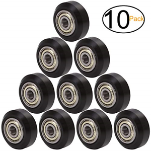 Pack of 10 Big Plastic Pulley Wheel with Bearing Idler Pulley Gear Perlin Wheel