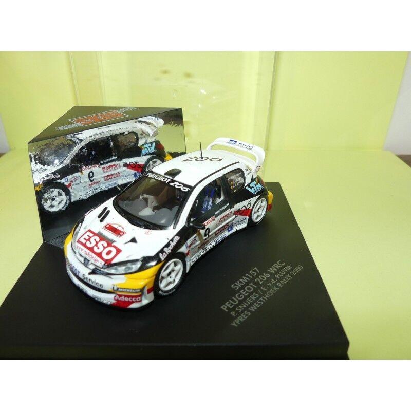 PEUGEOT 206 WRC RALLYE D'YPRES 2000 P. SNIJERS VITESSE SKM157 1 43 2ème