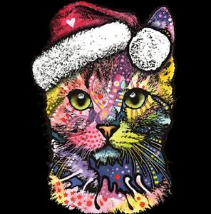 Christmas-Cat-Shirt-Santa-Claus-Hat-X-Mas-Small-5X