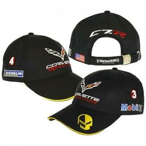 Corvette-Racing-Team-Gorra-Negro-Amarillo