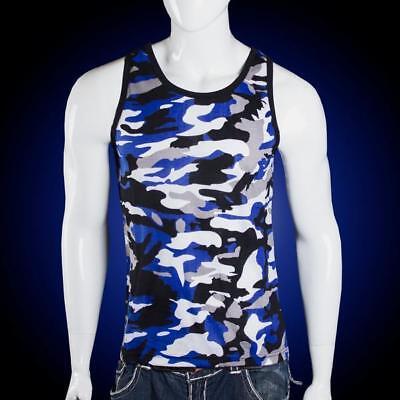 Mens Fashion Camo Print Tank Top