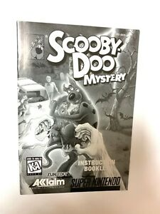 Scooby-Doo Mystery Instruction Booklet Manual Book SUPER NINTENDO SNES