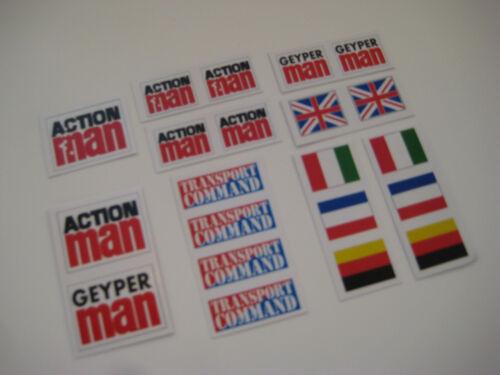 Action Man Geyper Man Adventure Team  Stickers B2G1F