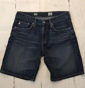 AG-Adriano-Goldschmied-28-EX-BF-Boyfriend-Shorts-High-Rise-Denim-Jeans