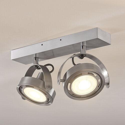 LED-Deckenlampe Munin Alu Lampenwelt 2 x GU10 Technisches Aussehen Strahler LED