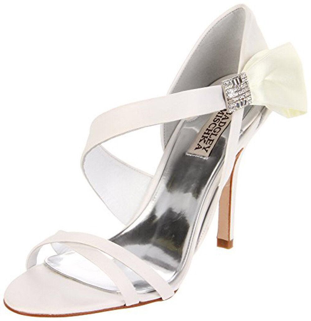 Badgley Mischka Women's SOPHIA Sandal WHITE WHITE Sandal SATIN,8 209cff