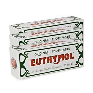 Euthymol Original Toothpaste Tube 75ml - 3 Pack