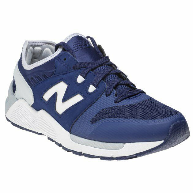New Mens New Balance Navy 009 Nylon Trainers Retro Lace Up