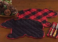 Park Designs Buffalo Check Bear Shaped Placemat or Table Mat