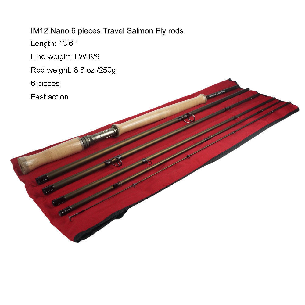 Aventik Salmon Fly rods IM12 Japan 6  pieces Fast Action Travel Rod 13'6'' LW8 9  shop makes buying and selling