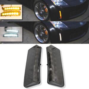 Compatible-2003-2005-350Z-Humo-7-LED-Reflector-Senal-de-Vuelta-Fog-Luces