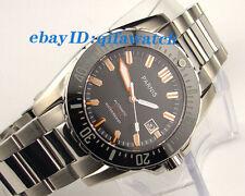 43mm Parnis Black Sapphire glass waterproof 200m Automatic men's dive watch E986