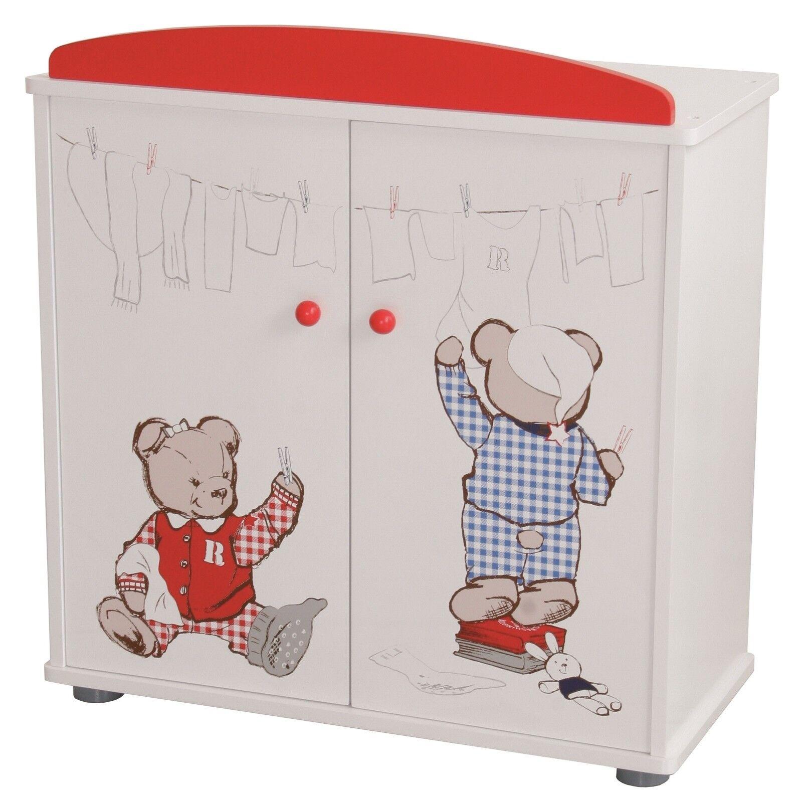 Roba Kids Puppenkleiderschrank 2-türig 2-türig 2-türig Teddy College ee6c55