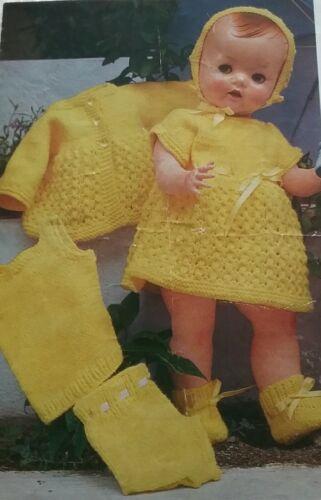 """Tejer patrón para las muñecas ropa Conjunto de 16/"""" y 20 Pulgadas Muñecas dk//4ply 8155"""